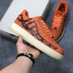 Nike air force 1 Orange Men sneakers